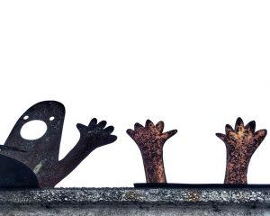 Hands up cartoon