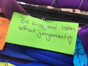 be kind and listen without judgement