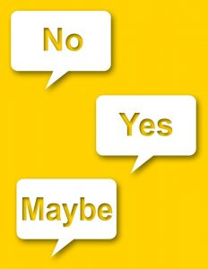 No yes maybe