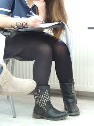 girl sitting her exams